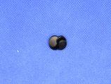 Knoop zwart blad glans 15mm