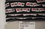 stoffen Bridge band zwart 30mm