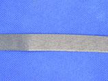 Broekstoot band  grijs 15mm