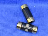 Knoop zwart met goud 38mm breed-14mm hoog