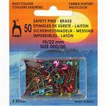 Veiligheids spelden     22 mm gekleurd 50 stuks