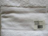 Badstof badhand     doek wit met borduurrand