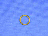 Metalen ring goudkleurig 19mm