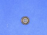 Knoop midden bruin 15mm