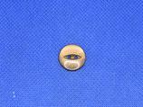 Knoop bruin transparant 15mm