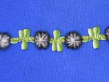 Stoffen band bloem en blad 18mm-band 4mm