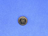 Metalen knoop touw brons-zwart kleur 20mm