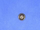 Knoop donker bruin 15mm