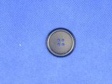 Knoop donker blauw 4 gaten 25mm