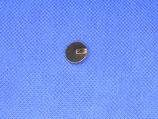 Knoop zwart met gouden streepjes 13mm