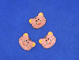 Knopen poes roze ( 3 stuks)