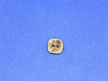 Knoop bruin gevlekt vierkant 11mm