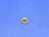 Knoop beige-bruin ovaal 10mm