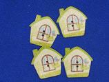 Knopen huis groen (32 stuks)