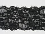Elastisch kant zwart bloem 50mm