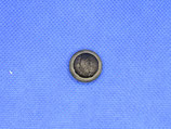Knoop zwart vlechtwerk motief 18mm
