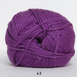 Blød Bomuld col.43 midden paars