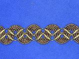 Stoffenband slinger bruin-goud 22mm