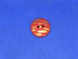 Knoop rood met goud 22mm