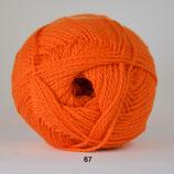 Blød Bomuld col.67 knal oranje