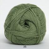 Blød Bomuld col.35 blad groen