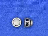 Koord  stopper grijs 2 gaten (2 stuks)