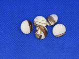 stofknoop wit meer kleuren bruin 16mm