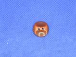 Knoop hazelnoot bruin 18mm