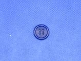 Knoop kobalt blauw 4 gaten 18mm