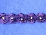 Band bloem met parel paars 20mm
