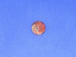 Knoop rood-bruin met streep 18mm