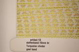 Stoffenband turquoise vlinder-geel band 10mm