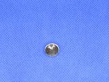 Knoop bloem kleur-zilver 12mm