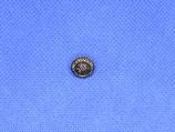 Metalen knoop bloem oud zilver 6mm