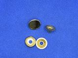 Slag druk knoop 19mm goud kleurig