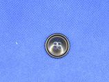 Knoop zwart 4 gaten glans 20mm