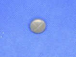 Knoop midden grijs kussen 15mm