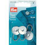 Flexi knopen 19 mm zilver 3 stuks