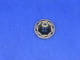 Knoop zwart- zilver rand 22mm