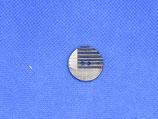 Knoop donker blauw streep 20mm
