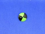 Knoop zwart-groen 18mm