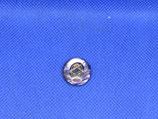 Knoop paars met goud hart 18mm