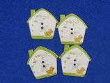 Knopen huis groen (14 stuks)