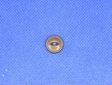 Knoop donker bruin 12mm
