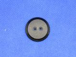 Knoop zwart mat 28mm