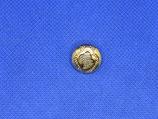 Knoop met glitter goud kleur 15mm