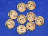 Knopen hout halve eifel 20mm (9 stuks)