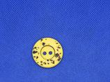 Knoop geel-zwart vlek 28mm
