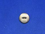 Knoop beige transparant 18mm