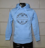 Hoodie WOMAN light blue/antraciet